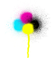 CMYK graffiti leaking drip sprayed element vector image