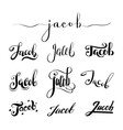 Personal name Jacob vector image