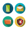 set technology security icons design vector image