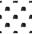 skull single icon in black styleskull vector image