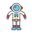 spaceman concept line icon editable vector image
