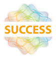 success - guilloche rosette with text on white vector image