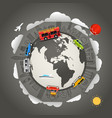 travel around the earth vector image
