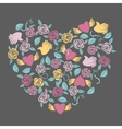 Valentine heart shaped decoration vector image