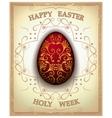 Vintage easter egg vector image