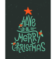 Have a Merry Christmas lettering in a shape of a C vector image