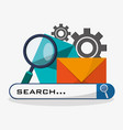 search in web related icons image vector image
