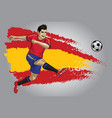 spain soccer player with flag as a background vector image