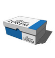 3d image - colored isolated closed shoes box vector image