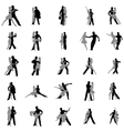 Tango dance silhouettes set vector image