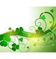 glowing abstract background with leaves clover vector image vector image