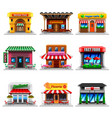 cafe and restaurants icons set vector image