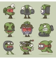 funny cartoon game monsters vector image