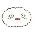 happy comic cartoon cloud vector image