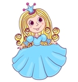 Little cute princess blue vector image