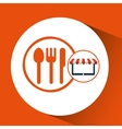 online shop restaurant design icon vector image