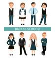 school children set vector image