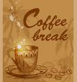 coffee break background vector image