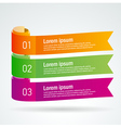 number list ribbon roll strip colored element set vector image vector image