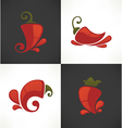 pepper symbols vector image