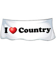 I love country vector image vector image