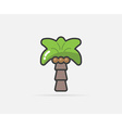 Palm can be used as Logo or Icon vector image