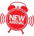 New arrival alarm clock icon vector image