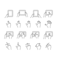 tablet gesture icons vector image vector image