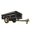 car garden lawn utility trailer side vector image