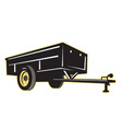 car garden lawn utility trailer side vector image vector image