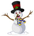 Funny Xmas Snowman for you design vector image vector image