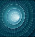 Abstract 3d blue spiral tunnel vector image