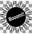 Boom Icon on transparent vector image