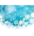 Elegant Christmas Snowflakes Background vector image