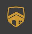 elegant golden shield property vector image
