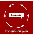 Emergency evacuation plan vector image