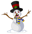 Funny Xmas Snowman for you design vector image