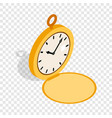 pocket watch isometric icon vector image