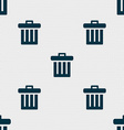 Recycle bin icon sign Seamless pattern with vector image