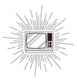 retro tv poster isolated icon design vector image