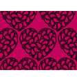 Seamless heart lace vector image