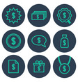 set of icons about money with cifrao dollar vector image