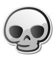 skull emoji face emoticon sticker vector image