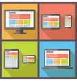 responsive web design Flat style vector image