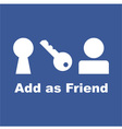 Add as Friend icon vector image vector image