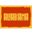 Alabama state name vector image