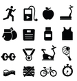 Gym training icons vector image vector image