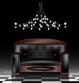 black sofa vector image