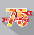 Discount 75 Percent Off vector image