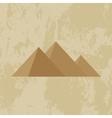 Egypt pyramid grunge background vector image